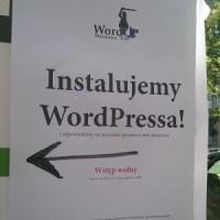 WordUp Warszawa #3 - plakat przed wejściem