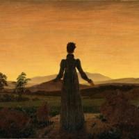 Caspar David Friedrich, 'Kobieta na tle zachodzącego słońca'
