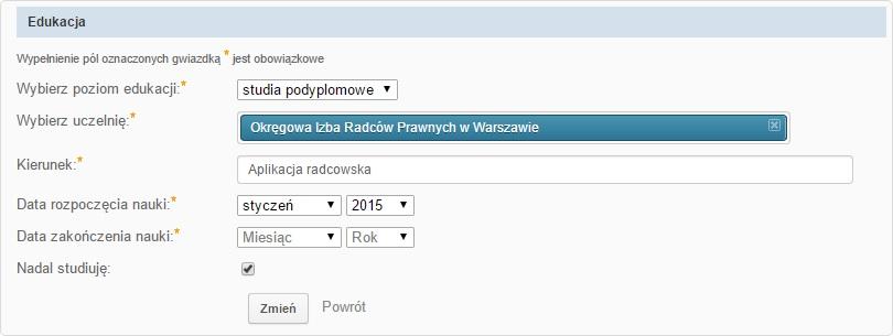 Aplikacja radcowska na GoldenLine