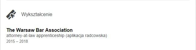 Aplikacja radcowska na LinkedIn