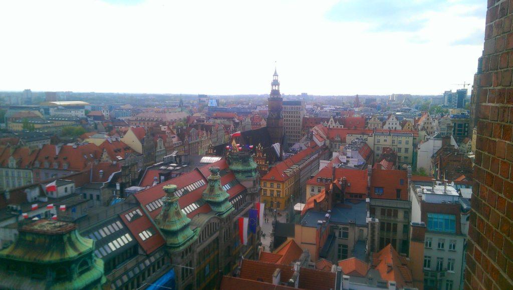 Wrocław widziany z Mostka Czarownic