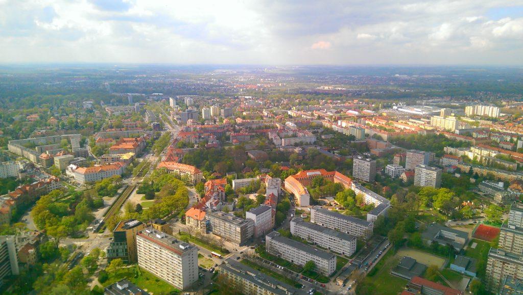 Wrocław widziany ze Sky Tower