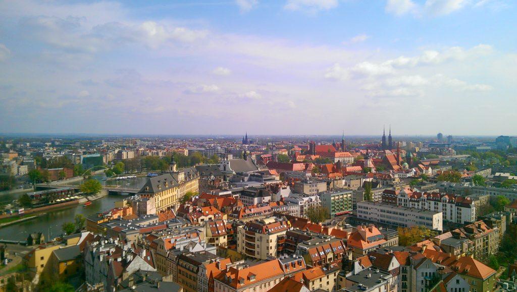 Wrocław widziany z wieży kościoła garnizonowego